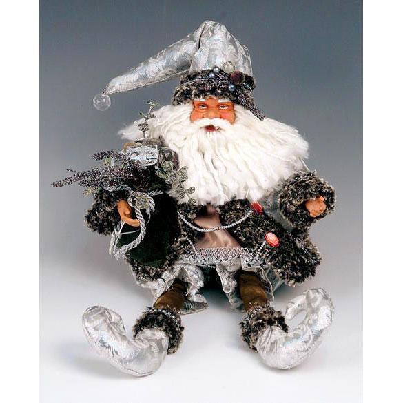 Дед Мороз  серебристо-дымчатый сидящий