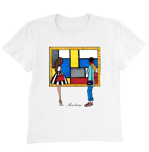 Женская футболка MONDRIAN