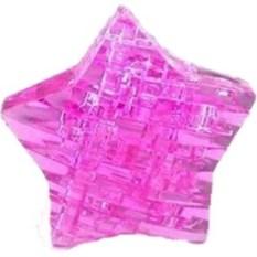 Розовый 3D пазл Звезда