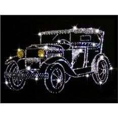 Картина с кристаллами Swarovski Ретро-автомобиль