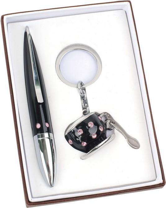Набор «За чашкой чая»: шариковая ручка, брелок с шильдом