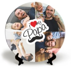 Тарелка с вашим фото I love my Papa