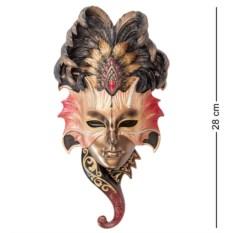 Венецианская маска Сова (цвет — розово-черный)