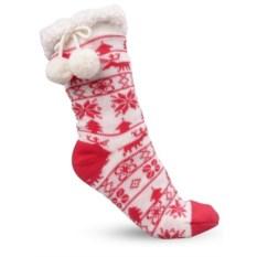 Домашние женские красные носки