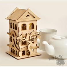 Резная шкатулка для чая Китайский Домик