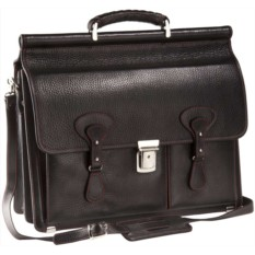 Черный портфель с красной отделкой Viaggi