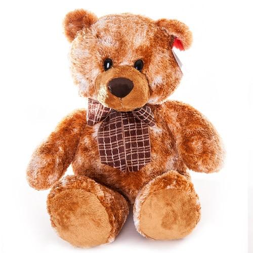 Мягкая игрушка Aurora Медведь коричневый сидячий, 53 см