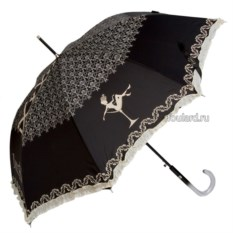 Черный зонт с силуэтом девушки Emme Burlesque N