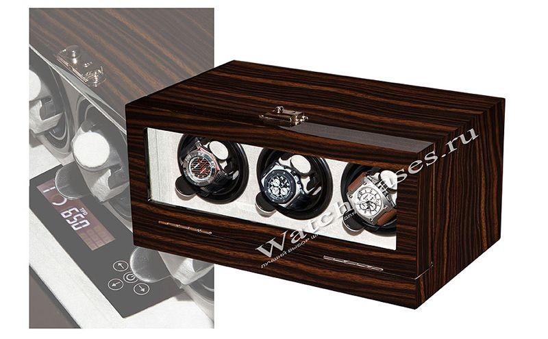 Шкатулка для подзавода часов VicStar, коричневая