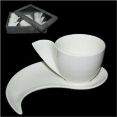 Набор для кофе Белый завиток, на 6 персон
