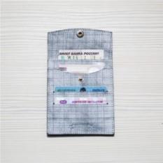Холдер кожаный для автодокументов HK avto Mini- Cut White