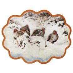 Панно из каменной крошки Куропатки на снегу