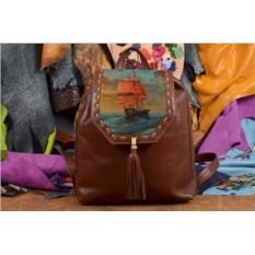 Женский рюкзак с принтом Парусник