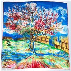 Платок Персиковое дерево. Ван Гог