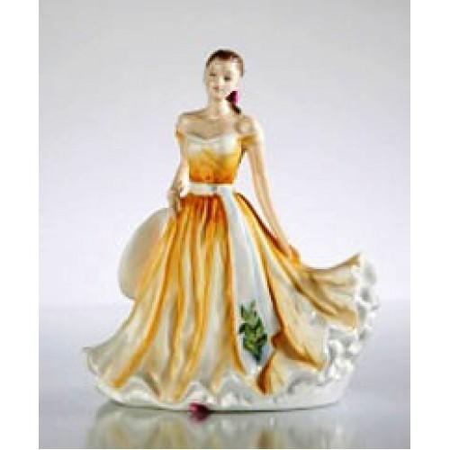 Фарфоровая статуэтка Цветок месяца: Май – Ландыш