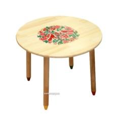 Деревянный детский стол с росписью Светлячок