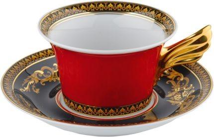Чайная пара Versace «Medusa» красная