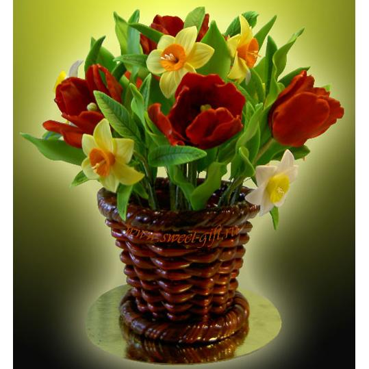 Букет «Тюльпаны и нарциссы»
