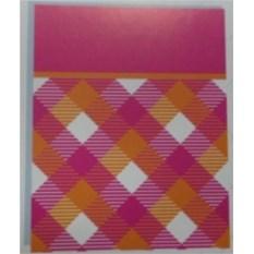 Бумажный ламинированный пакет (цвет — розовый)