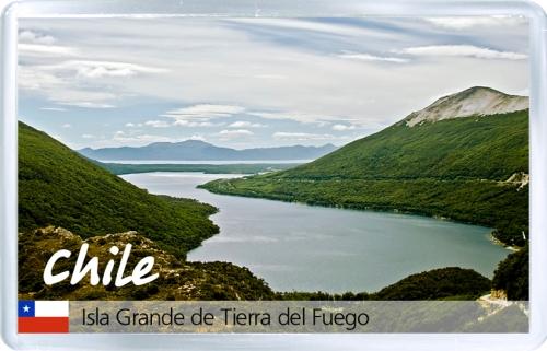 Магнит на холодильник: Чили. Чили. Огненная Земля