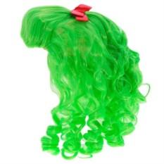 Зеленый карнавальный парик