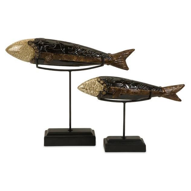 Керамические фигурки рыб на подставке Pisces (2 шт.)