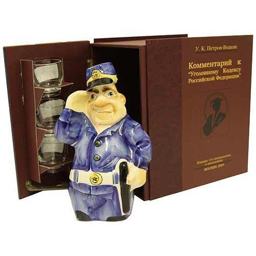 Штоф Полицейский и стопки в футляре -трёхтомнике