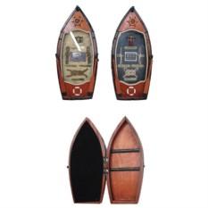 Ключница в виде лодки с морскими элементами
