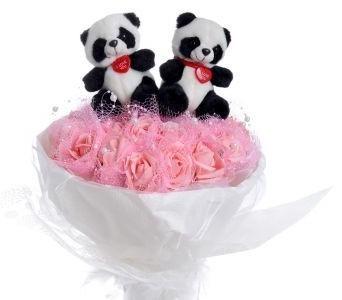 Букет из мягких игрушек 2 панды