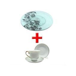 Подставка сервировочная под закуски + Чайный набор