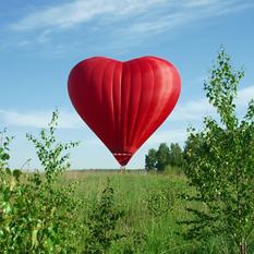 Полет на воздушном шаре «Сердце»