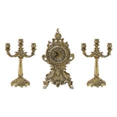 Каминные часы с канделябрами Олеандр
