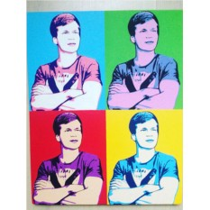 Комбинированный поп-арт портрет по фото 40х50 см (4 в 1)