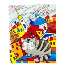 Набор для творчества Витражная картина. Кот на крыше