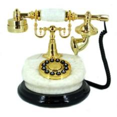 Телефон-ретро Белый мрамор