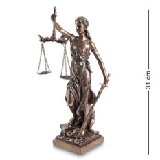 Статуэтка Фемида - богиня правосудия , высота 31 см