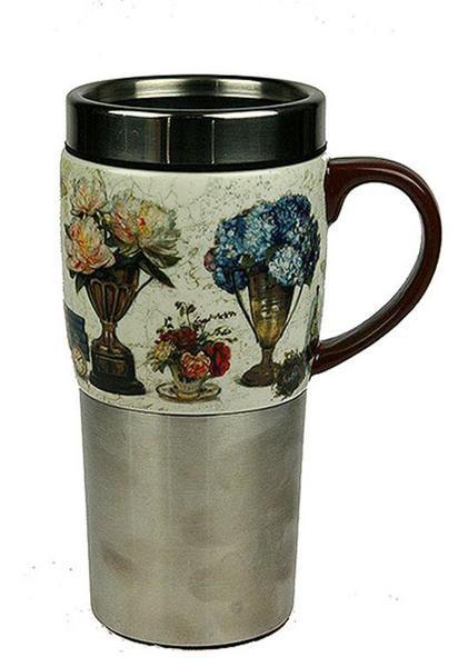Термокружка для чая и кофе Пион