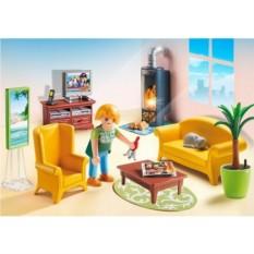 Конструктор Плеймобил Кукольный дом. Гостиная с камином
