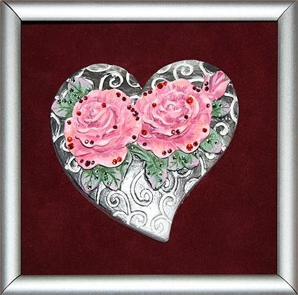Картина Swarovski Любовь в сердцах