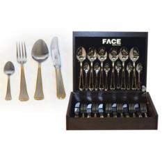 Набор столовых приборов на 6 персон Falperra Gold Face