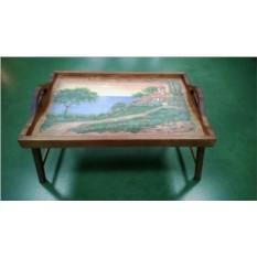 Столик для завтрака в постели с ручками Домик у моря
