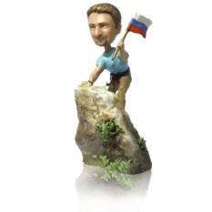 Статуэтка по фото альпинисту или скалолазу «Вершина мира»