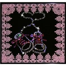 Картина с кристаллами Сваровски На рождение