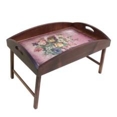 Столик для завтрака в постель с высоким бортиком Букет