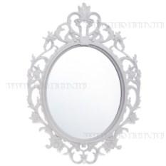Овальное зеркало (цвет — белый)