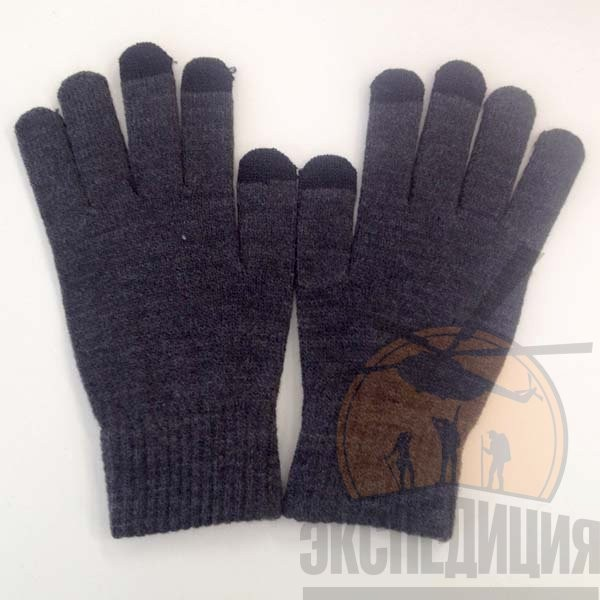 Серые перчатки для сенсорных устройств