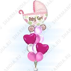Букет из шаров С рождением девочки!