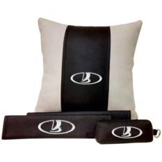 Набор из подушки и накладки на ремень и ключницы Lada