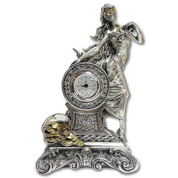 Часы «Богиня Фортуна с рогом изобилия»