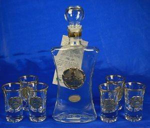 Подарочный набор для ликёра и водки Северная столица, 29х29 см